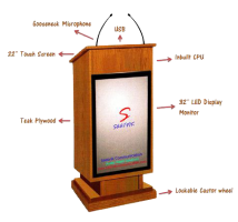 wooden display podium SIL-505
