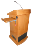 Wooden Podium with Inbuilt PA system