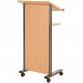 Panel front lectern stand