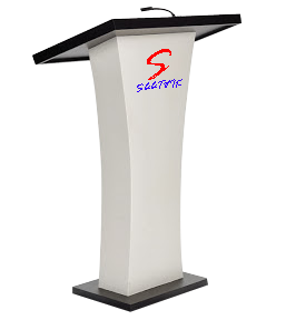 Wooden Podium with microphone SP-606