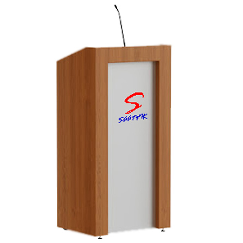 Wooden Podium with LED glow sign Board SP-632