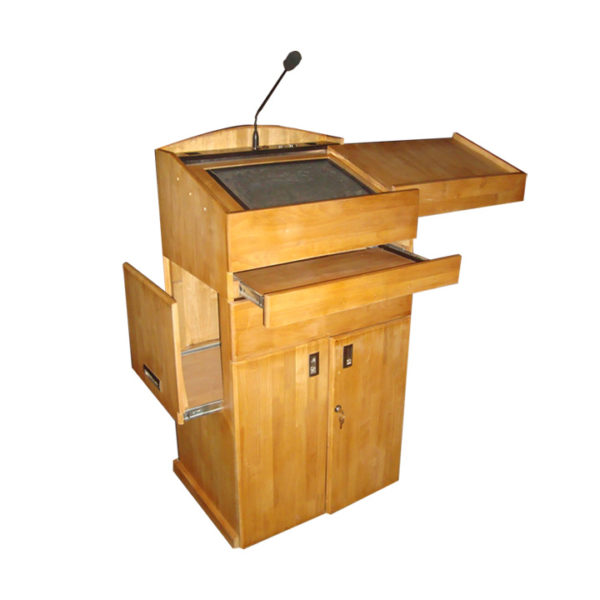 digital wooden podium image