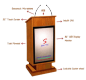 Interactive Wooden Podium SIL-505