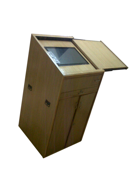 Computer Wooden Podium SIL-507 Inbuilt PA System