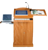 Smart Digital Wooden Podium SIL-510
