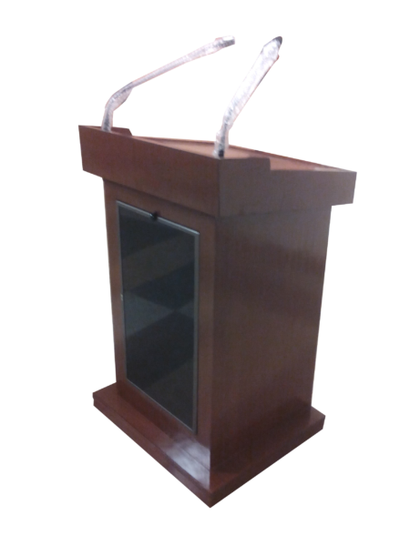 All in One 32″ Vertical Display Digital Wooden Podium SIL-513