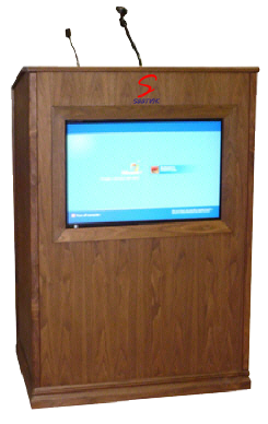 22″ Digital Display Wooden Podium SIL-511