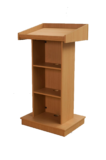 Simple Teak-Plywood Wooden Podium SP-640