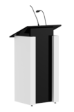 Stylish Black & White Wooden Podium SP-646
