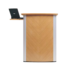 wooden podium with laptop tray sp-648