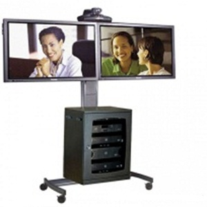 dual display tv trolley vct-8