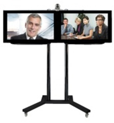 dual display tv trolley vct-9