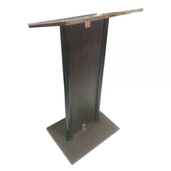 Metal & laminated wooden podium stand SP-637A