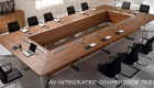AV integrated conference room tables design Delhi